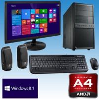 C1.8 AMD A4-5300 / 22 TFT / 500GB / DVDRW / 8Gb / CR / Keyb.+muis / W10H