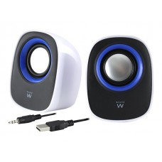 EWENT EW3513 Speaker set 2.0 USB powered Black/White