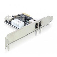 PCI Expr Card Delock 2x FireWire400  ext + 1x FW400 int +LowP