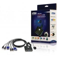 Aten 2-poorts USB KVM schakelaar