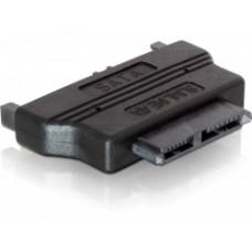 Delock adapter S-ata 22pin(m) naar slim S-ata(f) 5V